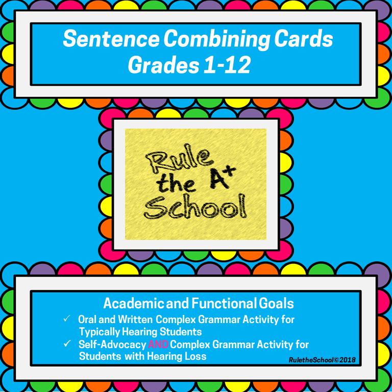 Sentence Combining Cards - complex grammar