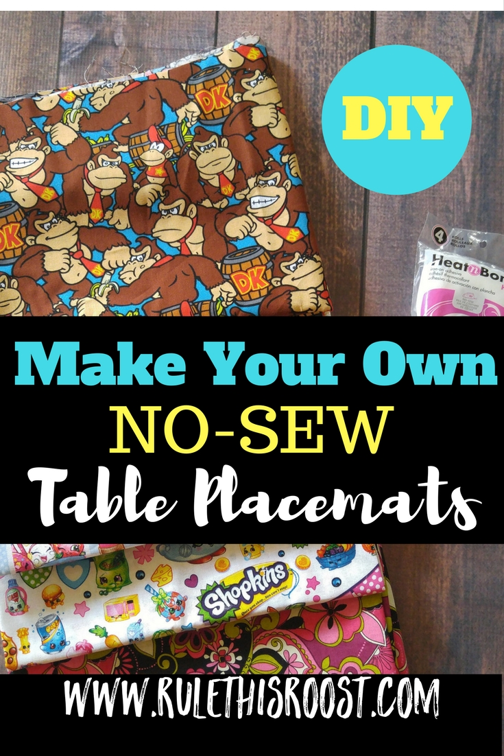 no sew diy table placemats