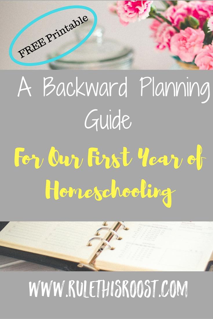 backward planning, homeschooling planner, planning