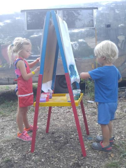 art outside with kids