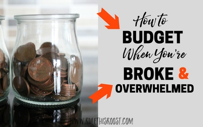 How to Budget When You're Broke and Overwhelmed. Not having money is emotionally exhausting. Use these tips and advice to budget when you're broke and feeling overwhelmed.