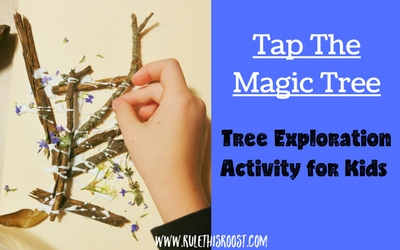 Tap the Magic Tree Exploration Activity for Kids. This interactive picture book takes a look at trees during each season. Kids will love this great activity that uses pieces from nature to create!