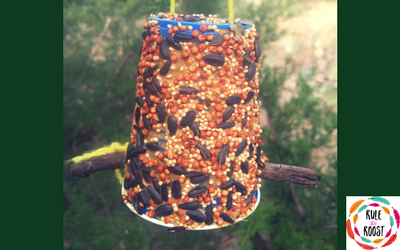 Diy bird feeder your kids can make rule this roost easy diy bird feeder for kids to make fandeluxe Images