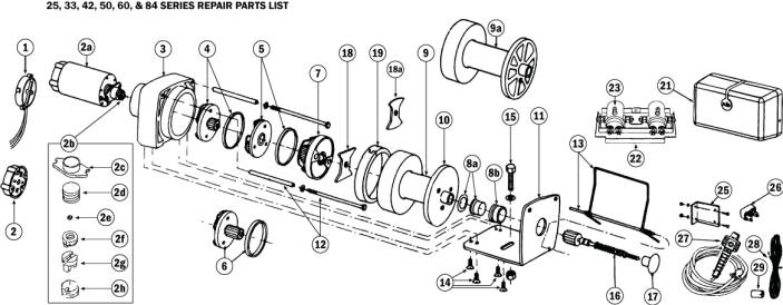 Rule Winch Parts