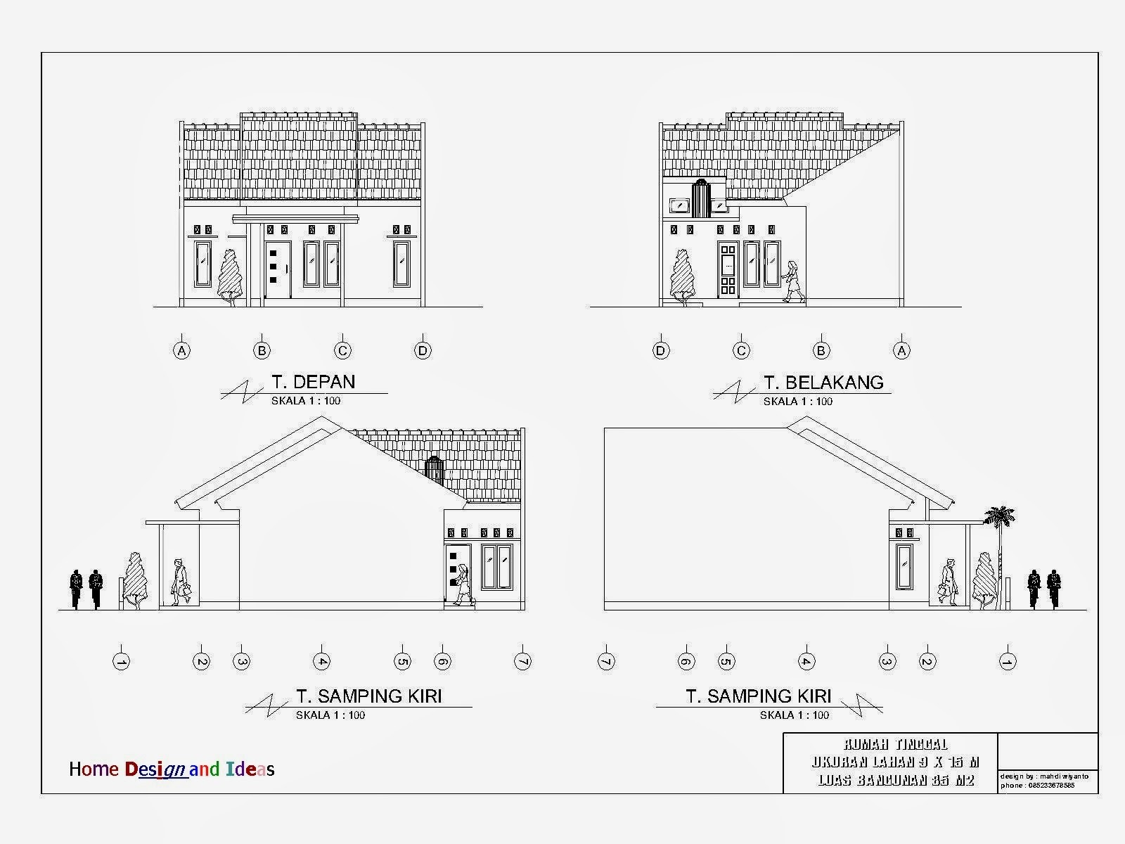 Denah Rumah Tinggal 9 X 15 M Home Design And Ideas