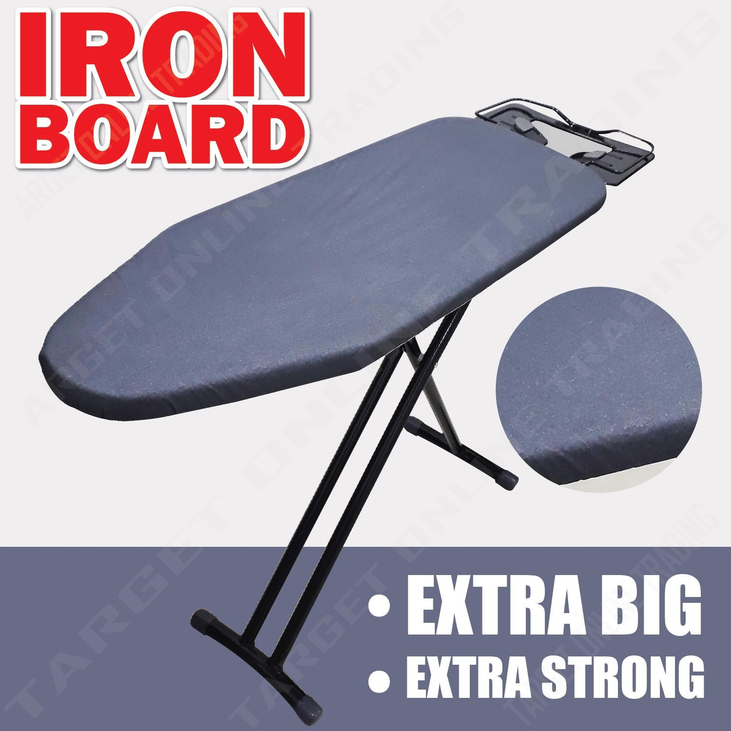 Fold Ironing Iron Board Non slip Cap Iron Rest Black Extra Big Strong