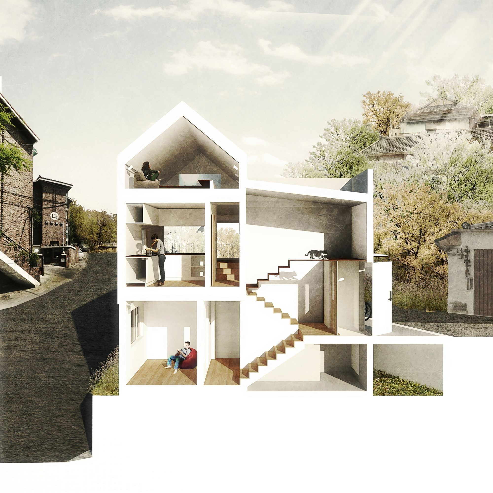 50m2 House A Newlyweds Small Home In Seoul By Obba