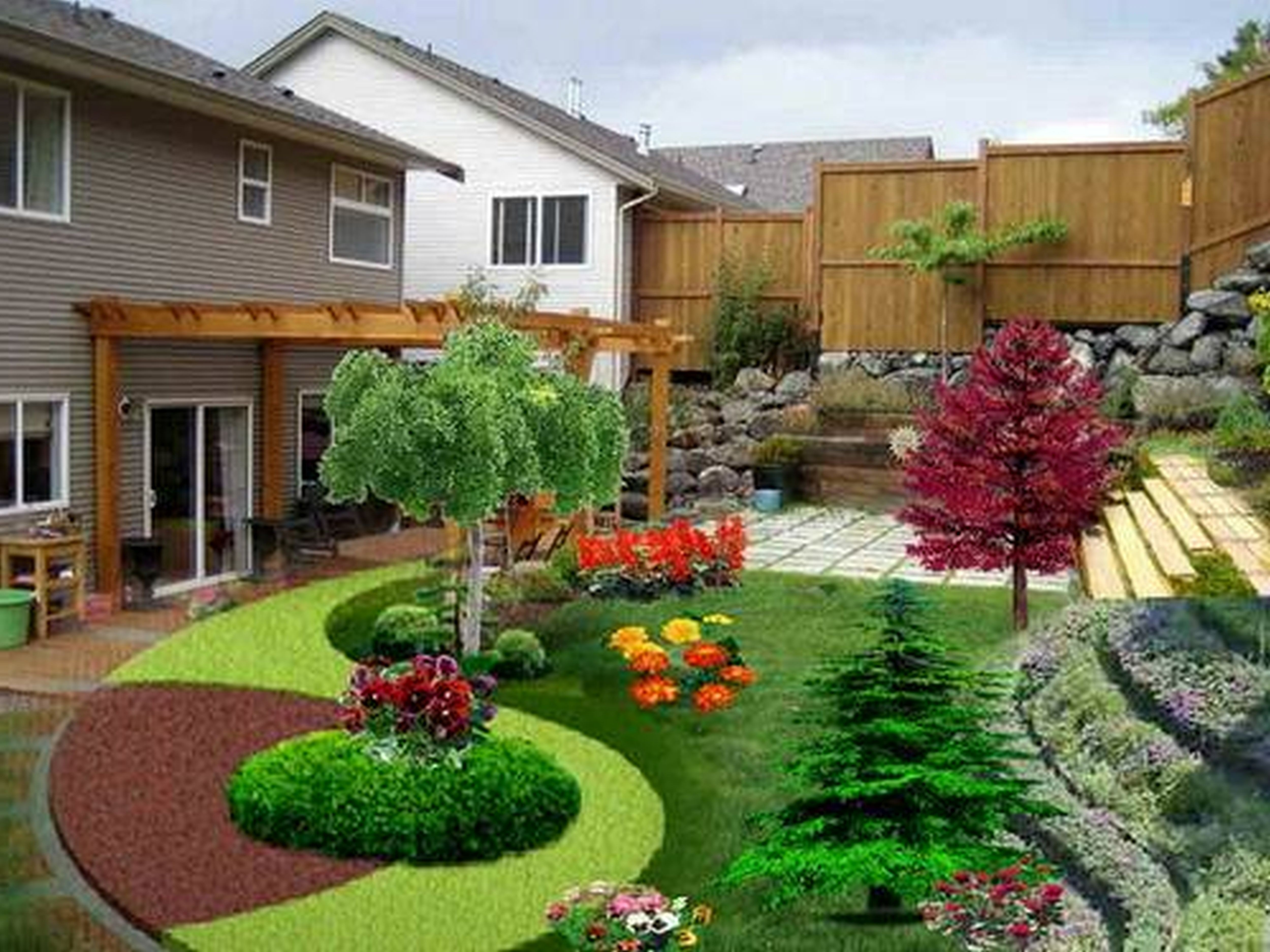 Nice 109 Latest Elegant Backyard Design You Need to Know Improvement Backyard is a yard at the back of a house mon in suburban developments in the