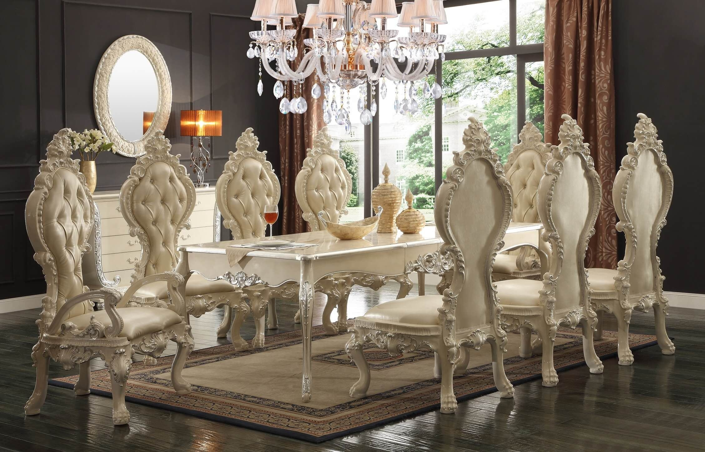 HD Homey Design Royal Palace Dining Set Homey Design HD Royal Palace Dining Room Collection Introduces the brilliance of time honored style