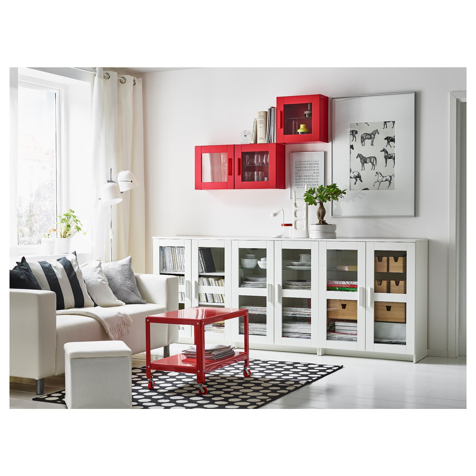 IKEA BRIMNES Cabinet with doors glass black Behind the panel doors you can keep your belongings hidden and free from dust Adjustable shelves so you