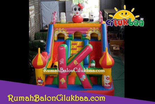 harga istana balon ukuran 4x6 - Hello Kitty