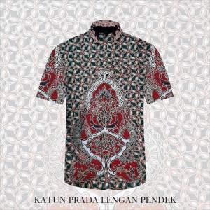 Kain Batik Tulis Bahan Katun Satin Prada Tinta Emas A10