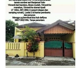 rumah solo dijual