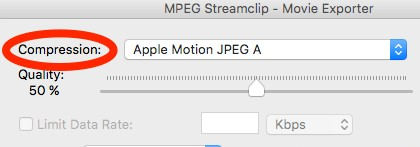 mpeg streamclip compression