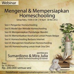Webinar Homeschooling April Mei 2012