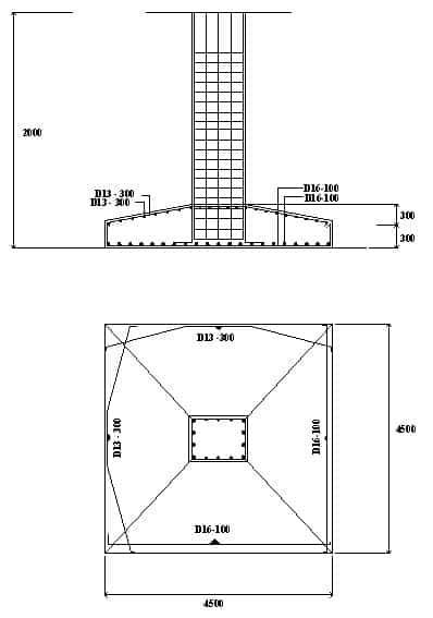 detail pondasi foot plate  RumahLiacom