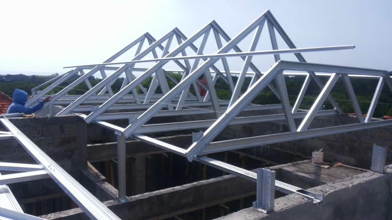 rangka baja ringan atap miring cara menghitung kebutuhan rumahlia com