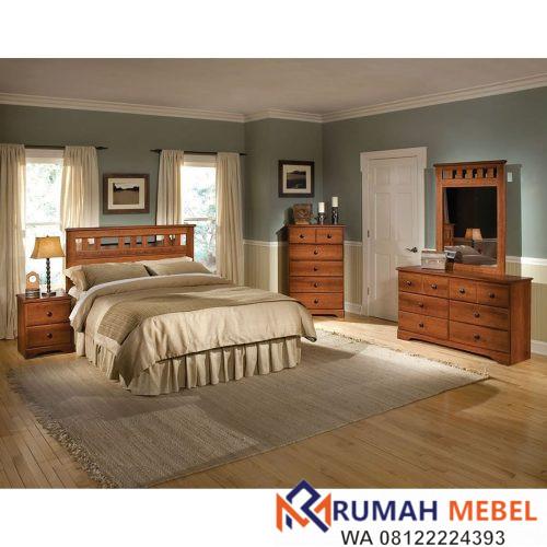 Set Kamar Tidur Minimalis Jati
