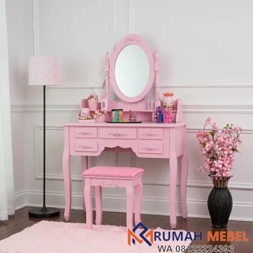 Meja Rias Wanita Warna Pink Terbaru