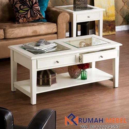 Meja Kopi Amberly Putih