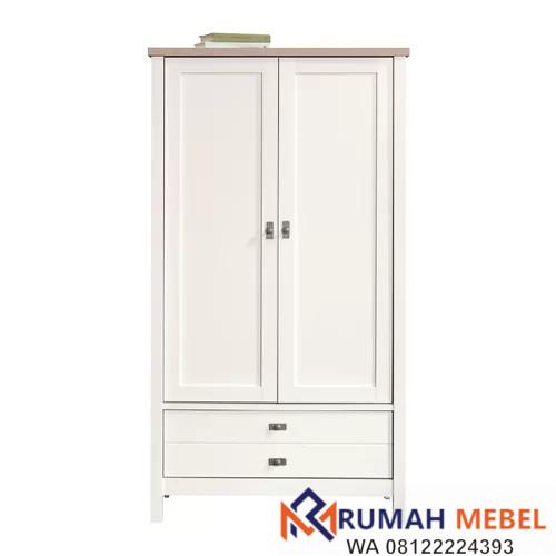 Lemari Baju 2 Pintu Warna Putih