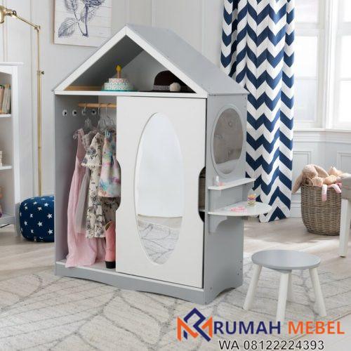 Lemari Baju Anak Model Rumah Unik