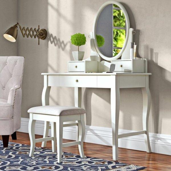 Meja Rias Minimalis Putih Alcott