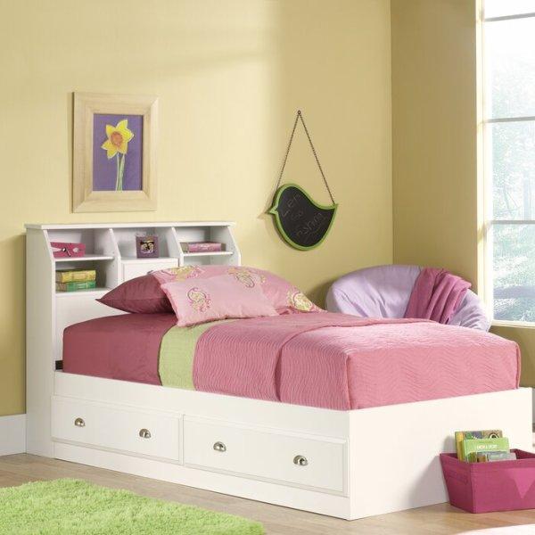 Tempat Tidur Anak Putih Berlaci