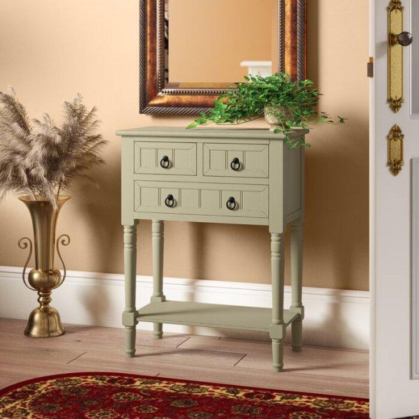 Meja Konsol Antik Putih Charlton