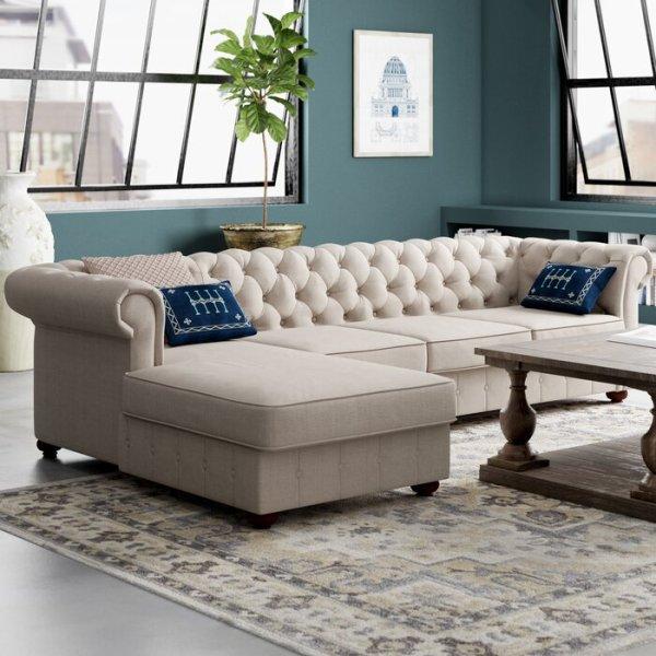 Sofa Sudut Mewah Modern Quiataque