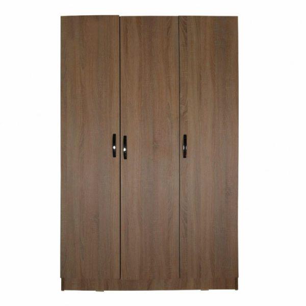 Lemari Pakaian Minimalis Natural 3 Pintu