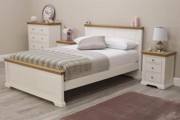 Tempat Tidur Minimalis Westcott White Super King