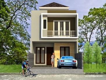 desain tampak depan rumah minimalis 2 lantai lebar 6 meter