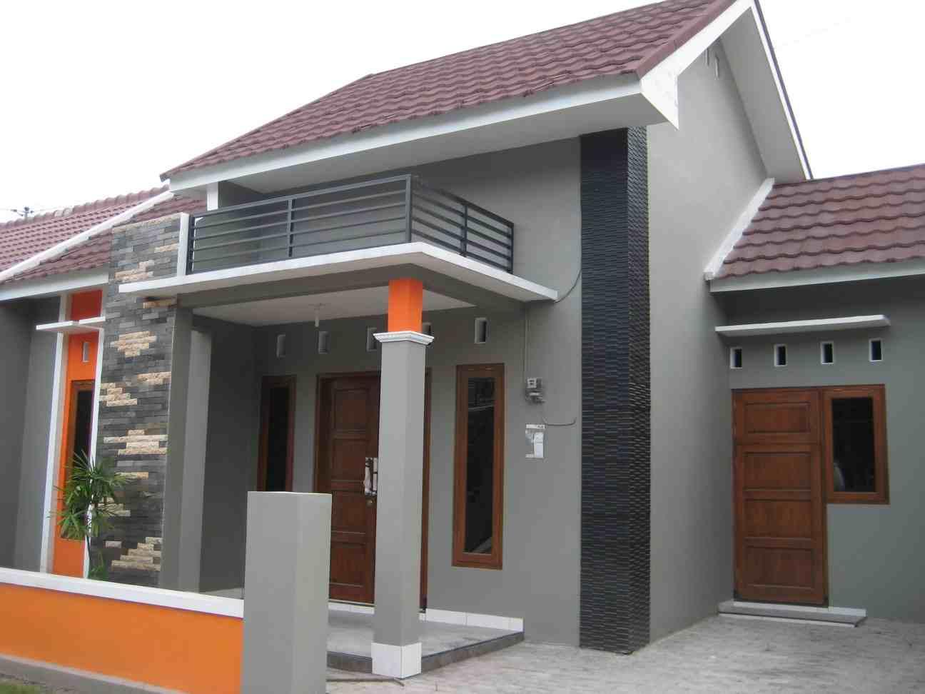 kombinasi warna cat luar rumah minimalis tampak depan yang