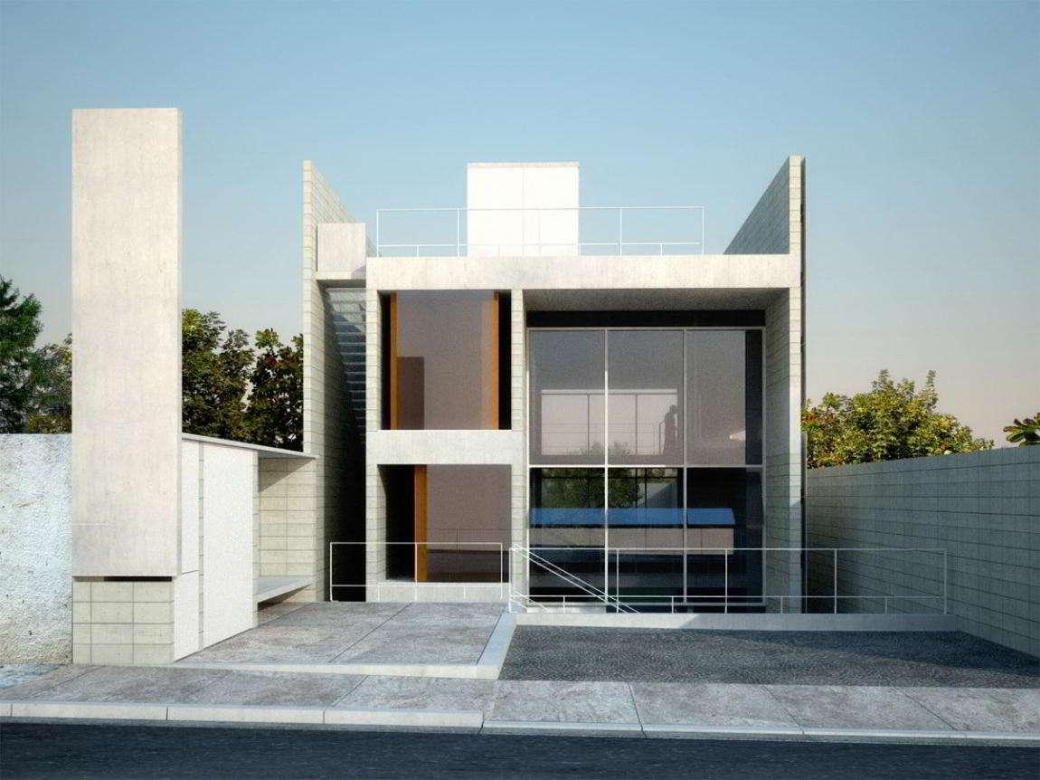 Gambar Rumah Kaca Sederhana Tampak Depan  Eksterior Rumah