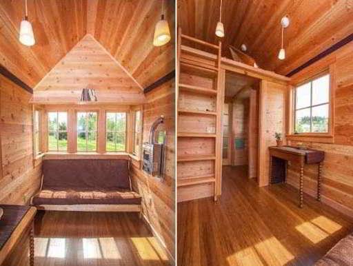 Interior Rumah Semi Permanen Kayu Minimalis  Gambar Desain Rumah 3121