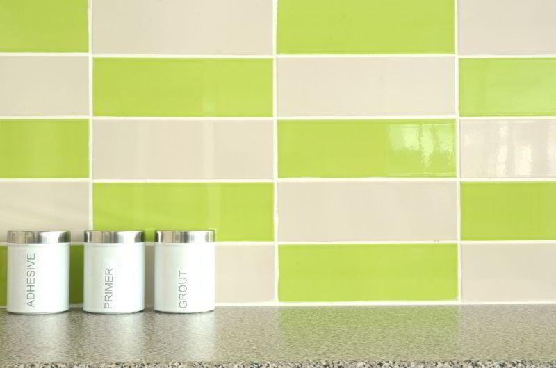 Motif Keramik Dinding Dapur Hijau  Interior Rumah 3005