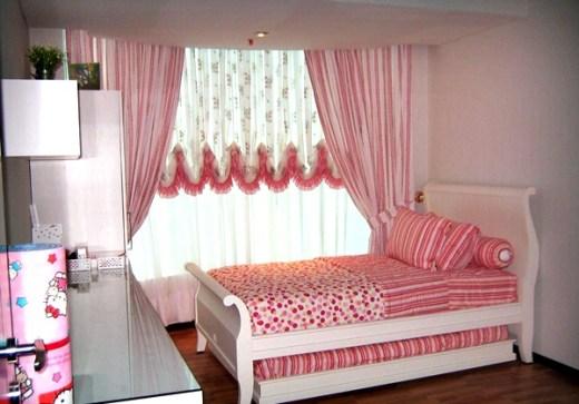 Desain Kamar Tidur Anak Perempuan Minimalis Warna Pink