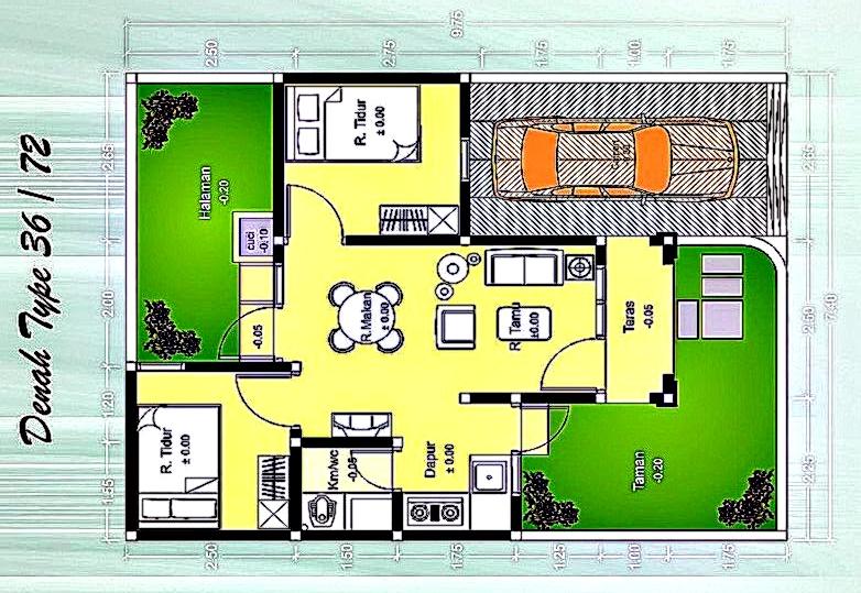 Desain Rumah Minimalis 1 Lantai Tipe 36