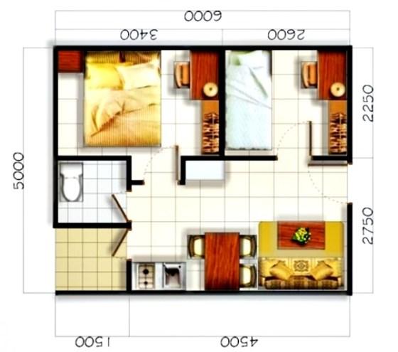 Desain Rumah Minimalis 1 Lantai Type 36 5 - 10 Desain Denah Rumah Minimalis 1 Lantai Tipe 36 Populer 2018