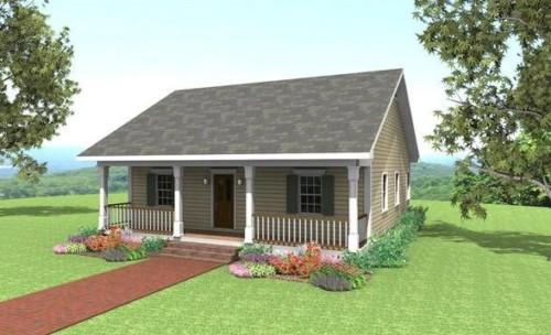 Gambar Rumah Idaman Sederhana di Desa yang Cantik 11