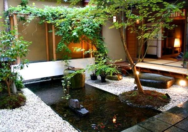 Taman rumah minimalis dengan kolam 2