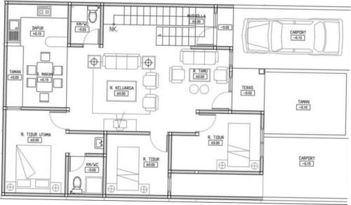 Denah Rumah Minimalis 3 Kamar Tidur 1 Lantai 9 - 18 Gambar Denah Rumah Minimalis 1 Lantai 3 Kamar Tidur Terbaik