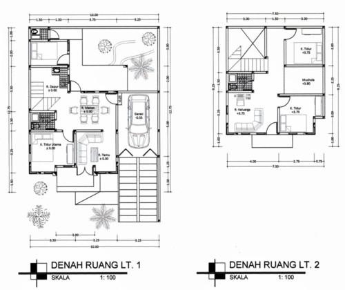Denah Rumah Minimalis 3 Kamar Tidur 2 Lantai 2 - 21 Contoh Denah Rumah Minimalis 3 Kamar Tidur 1 dan 2 Lantai