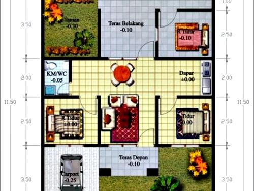 Denah Rumah Minimalis 1 Lantai 3 Kamar Tidur 5 - 18 Gambar Denah Rumah Minimalis 1 Lantai 3 Kamar Tidur Terbaik
