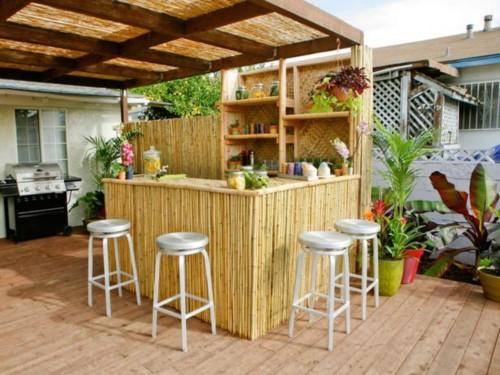 15 Desain Dapur Minimalis Terbuka Dekat Taman Belakang Rumah