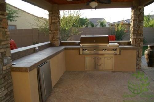 Desain Dapur Minimalis Terbuka Dekat Taman Belakang Rumah 8 - 15 Desain Dapur Minimalis Terbuka Dekat Taman Belakang Rumah