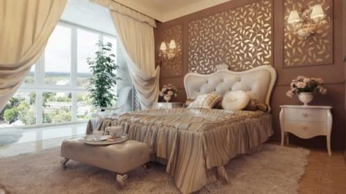 Wallpaper Desain Kamar Tidur Pengantin Romantis 12