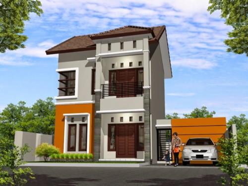 Gambar Tampak Depan Rumah Minimalis 2 Lantai Modern 10 - 35 Model Rumah Minimalis 2018 yang Banyak Diminati