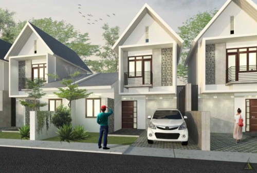 Gambar Tampak Depan Rumah Minimalis 2 Lantai Modern 13 - 21 Model Atap Rumah Minimalis Bagian Depan Terbaru 2018